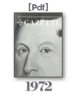 1972 Gazette Cover