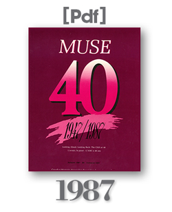 1987 Muse Magazine Cover