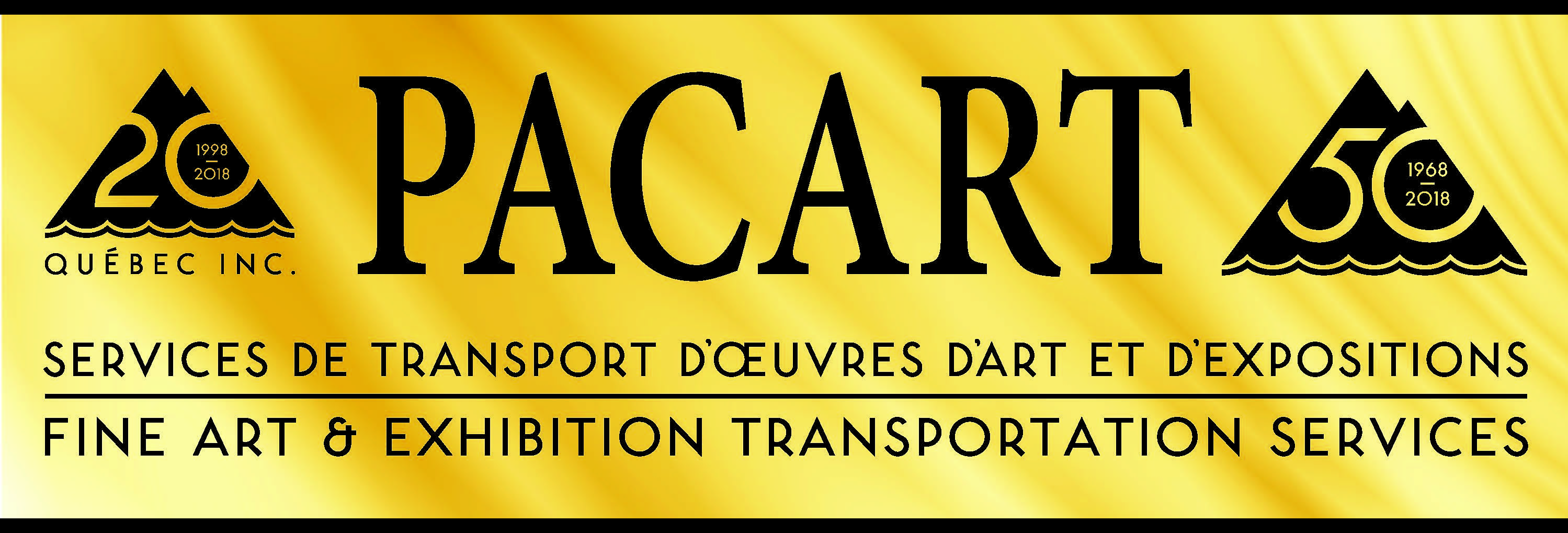 Pacart logo gold 50