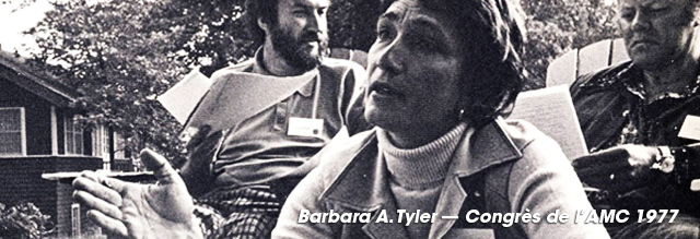 Barbara A. Tyler at the CMA conference 1977